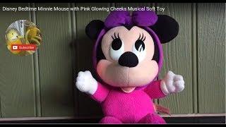 Сном Дісней Мінні Маус з рожевим палаючими щоками музична м'яка іграшка