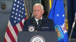 Pence visits troops at Ohio air base to mark Armed Forces Day
