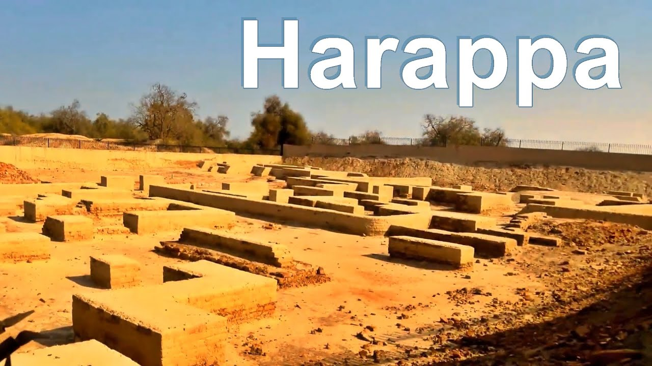 The ruins of the early city of Harappa from the Indus Valley Civilization