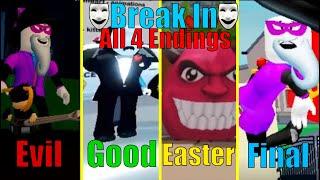 ROBLOX Break In [STORY] | All 4 Endings (Season 3, Episode 4)