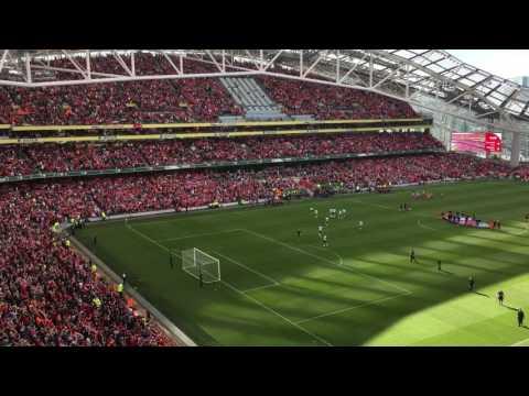 50,000 Liverpool fans sing YNWA in Dublin