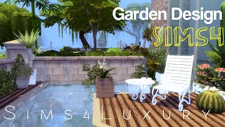 Sims 4 - House building - Garden Design