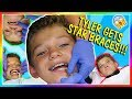 WATCH TYLER GET STAR SHAPED BRACES! | We Are The Davises