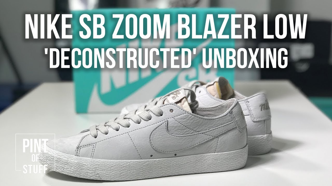 the latest 8149e 9e0ea Nike SB Zoom Blazer Low  Deconstructed  Sneaker Unboxing with SJ 🔥