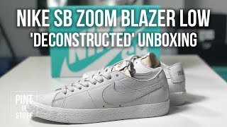 Nike SB Zoom Blazer Low 'Deconstructed' Sneaker Unboxing with SJ  <div class=