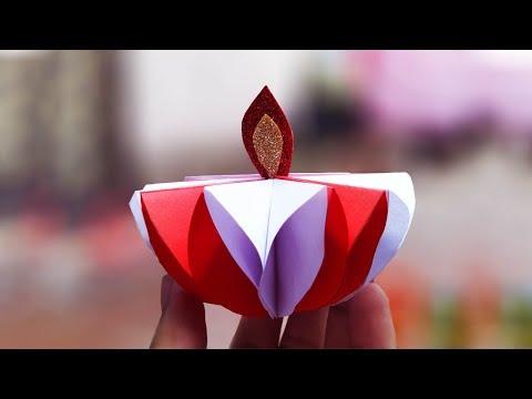 Origami Diwali Diya | How to make Paper Diya for Diwali Decoration ideas