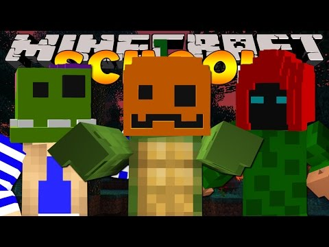 Minecraft School - THE CLASS MAKE HALLOWEEN MASKS!