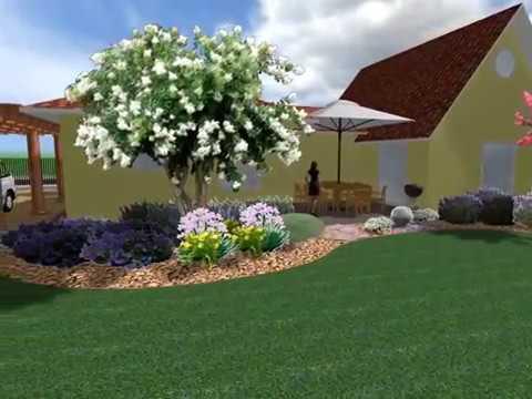 Progettazione giardino privato youtube - Giardini di villette ...