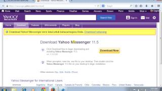 cara mendownload yahoo