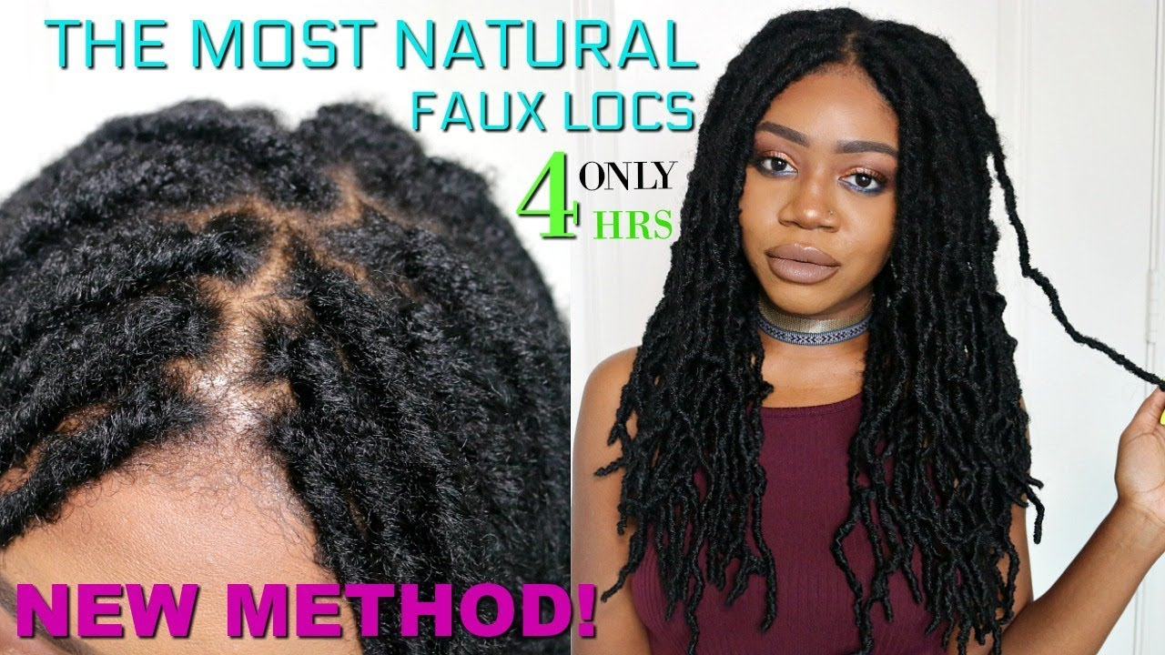 The Most Natural Crochet Locs Install Ever Knotless