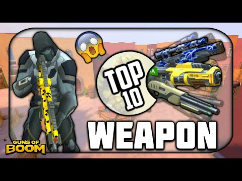 Top 10 Most Powerful Weapons| Guns of Boom 2018