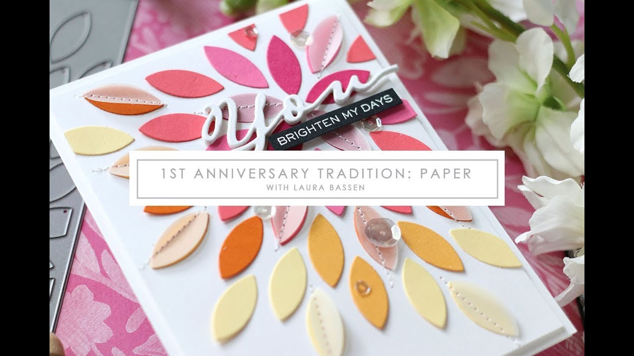 Stamp a faire st anniversary tradition paper presented