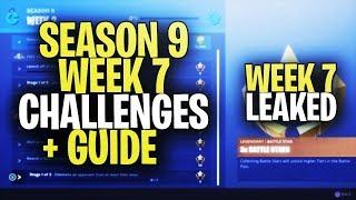 *NEW* Fortnite SEASON 9 WEEK 7 CHALLENGES LEAKED + GUIDE! ALL SEASON 9 WEEK 7 CHALLENGES