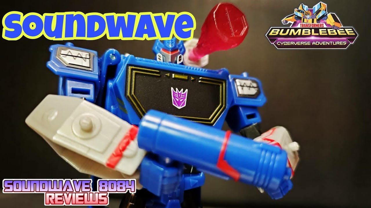Transformers Cyberverse Adventures Deluxe Soundwave Review By Soundwave 8084