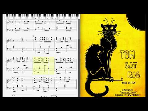 Tom Cat Rag By Harry Weston (1912, Ragtime Piano)