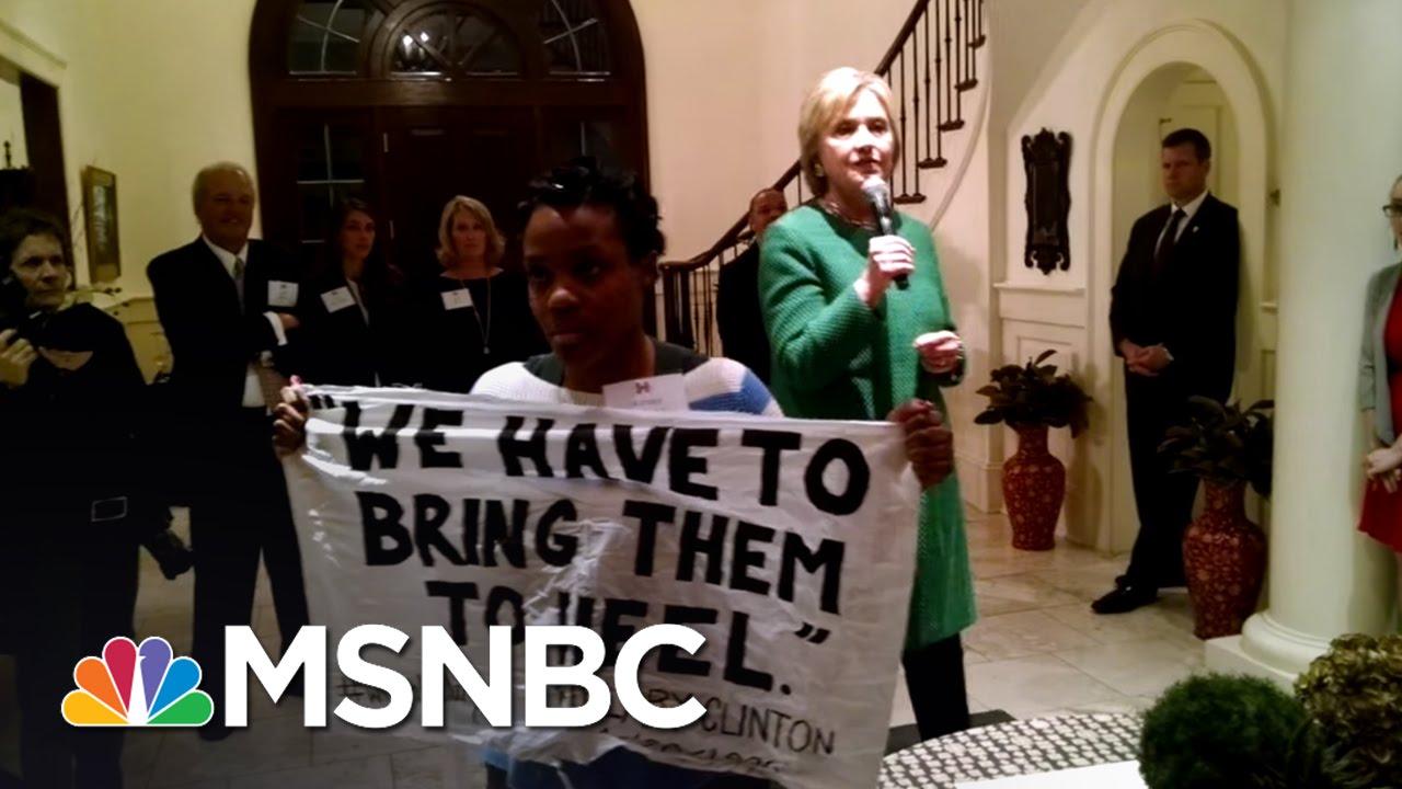 Black Lives Matter Activists Interrupt Clinton | Morning Joe | MSNBC