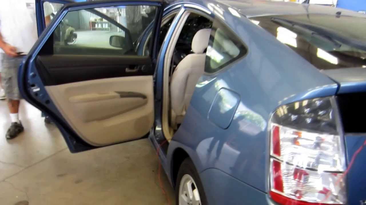 Air Bag Side Curtain And Drivers Seat Deployment Toyota Prius