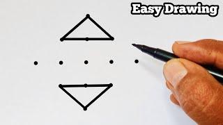 "Daily Rangoli Designs; With 5×1 Dots Latest ""Muggulu"" EASY #7"