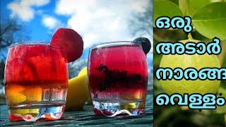 Summer drinks in malayalam   Lemonade   juice recipes in malayalam   naranga vellam recipe