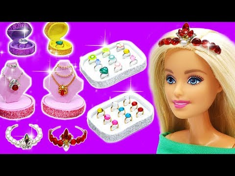 Diy Barbie Ideas accessories, jewelry rings, necklaces, crowns