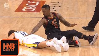 JR Smith & Klay Thompson collided / GS Warriors vs Cavaliers Game 1