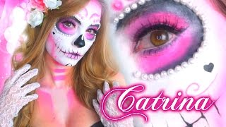 CATRINA GLAM ♥ | MAQUILLAJE PEINADO Y ACCESORIOS!  | Katie Angel thumbnail