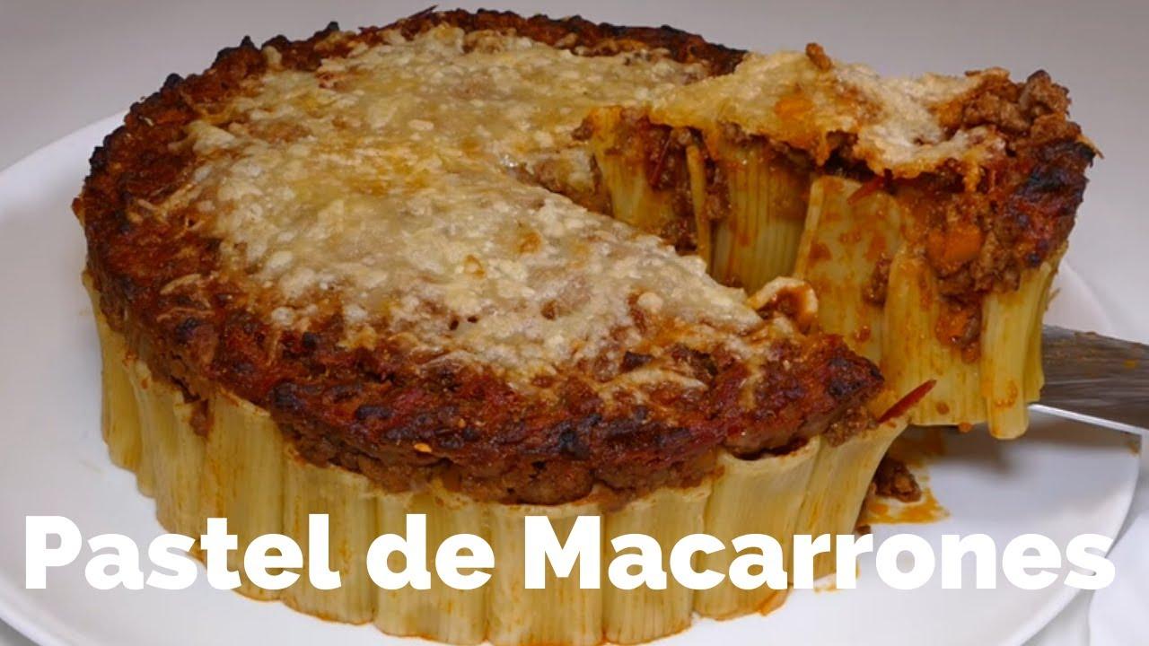 Pastel de Macarrones / RECETA CASERA / Rica y Fácil | Josean MG |