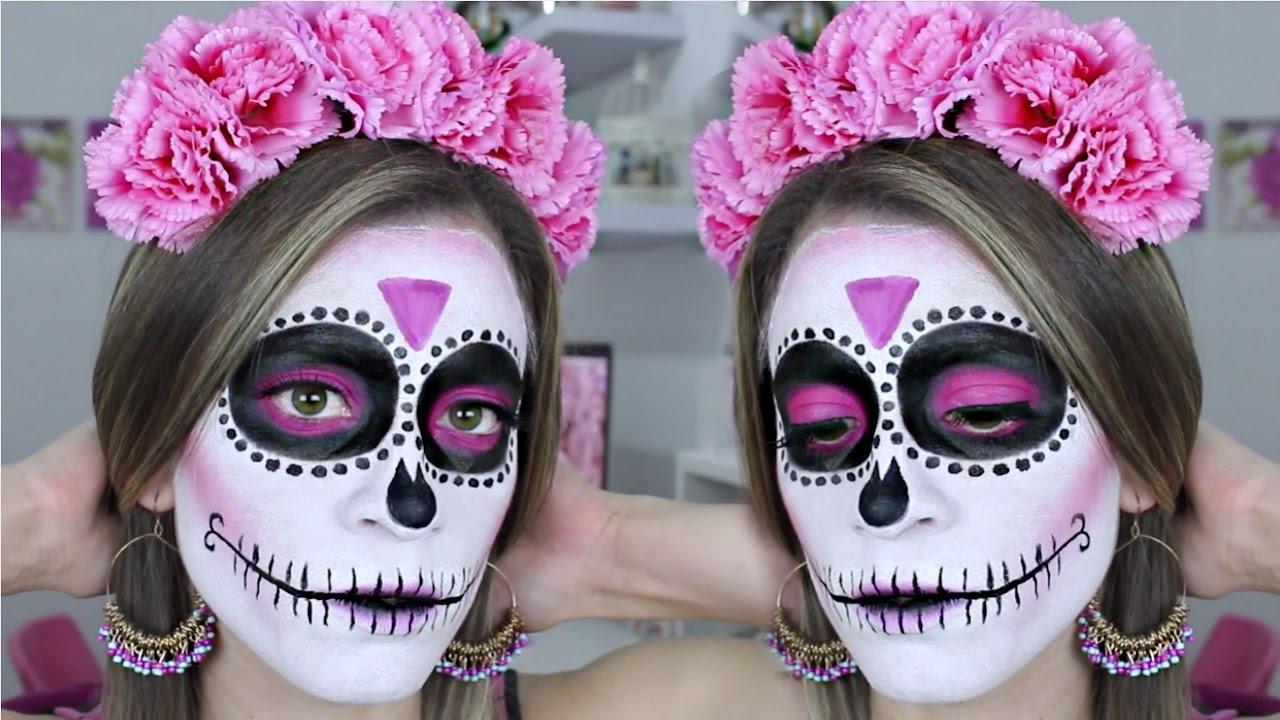 Maquillaje De Catrina Fácil Para Principiantes Halloween Makeup