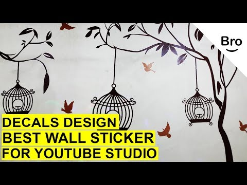 How to Stick a Wall sticker On Your Wall in 5 Minutes? (wall decals)