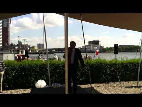 Skûtsjesilen Friesland Bank Rotterdam - Prijsuitreiking Klaas Jansma (11-05-2011) #7