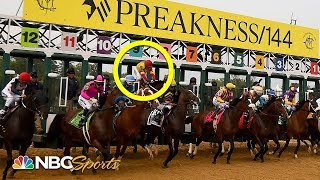 Preakness Stakes 2019: Bodexpress' jockey reacts to being thrown off horse | NBC Sports