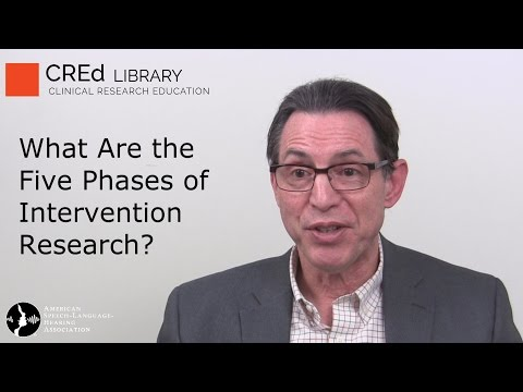 A Five-Phase Model of Intervention Research: Marc Fey