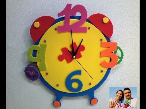 Arte en Tus Manos con Lili y Sam: Reloj en Foami (goma eva) con ...
