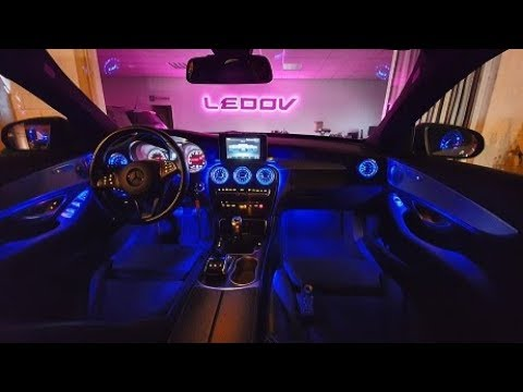 Mercedes W205 Ambiente & Lüftungsdüsen Beleuchtung Nachrüsten