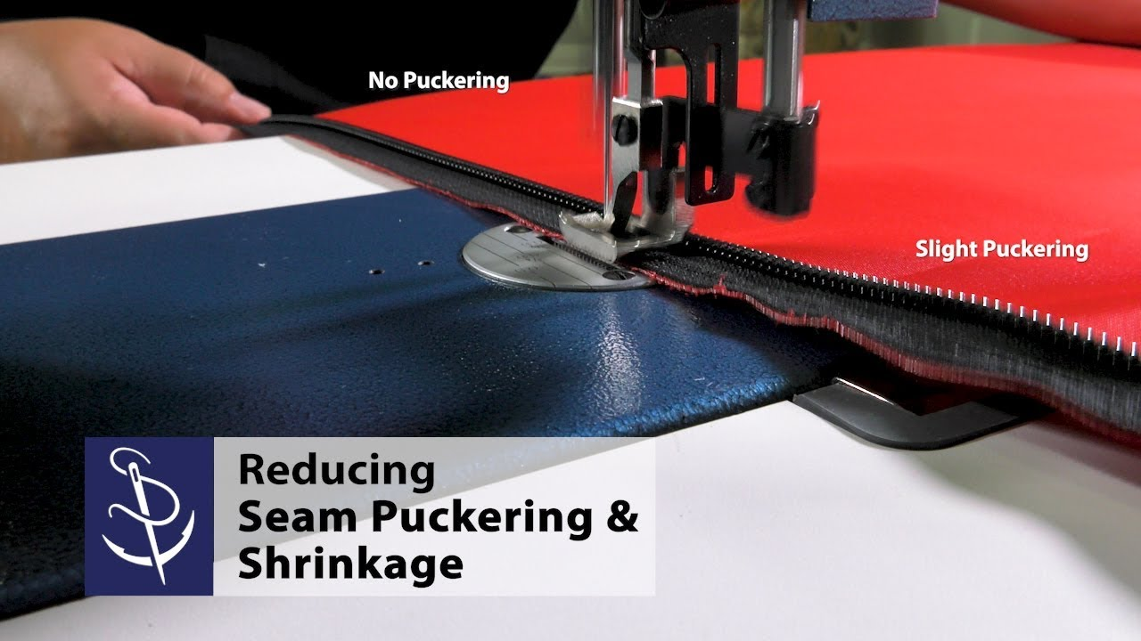 Reducing Seam Puckering & Shrinkage when Sewing