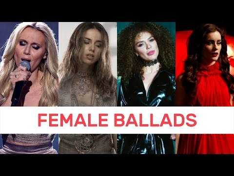 TOP 7: Eurovision 2017 - Female Ballads - From America
