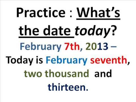 Decir la fecha en Inglés - YouTube