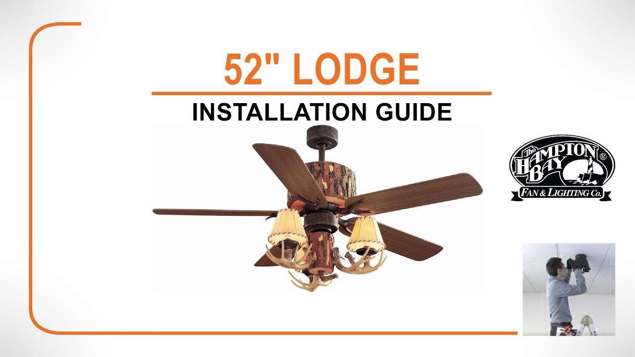 52 lodge ceiling fan installation guide youtube 52 lodge ceiling fan installation guide mozeypictures Choice Image