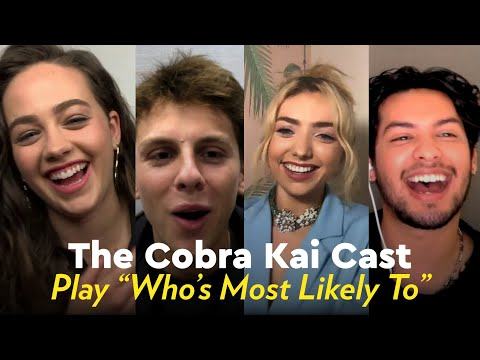 """The Cobra Kai Cast Play """"Who's Most Likely To"""""""