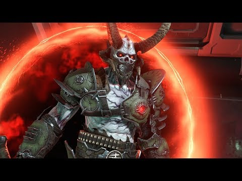 Doom Eternal Marauder Boss Fight Youtube