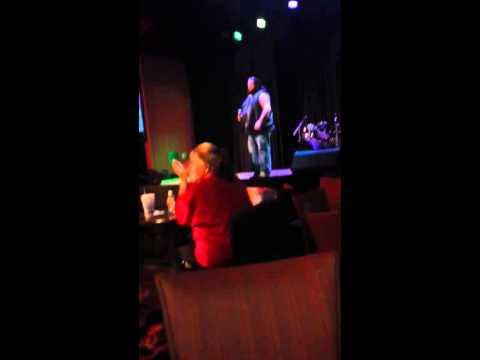 Danny sings karaoke