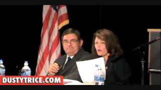 Michele Bachmann Handles Pro-National Govt Healthcare Takeover hecklers mad she opposes Obamacare