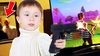 Kid thinks he's playing Fortnite (ENDS BADLY)