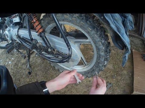 Bajaj Boxer Bm 150 - натяжка цепи на мотоцикле
