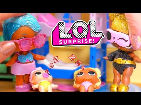 LOL Surprise Dolls Babysitting with Playmobil Sets & Unboxings