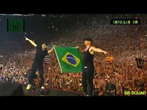 SKRILLEX & Diplo – Cinema /// Where Are Ü Now (Jack Ü LIVE In Lolla BR 2016) [HD]