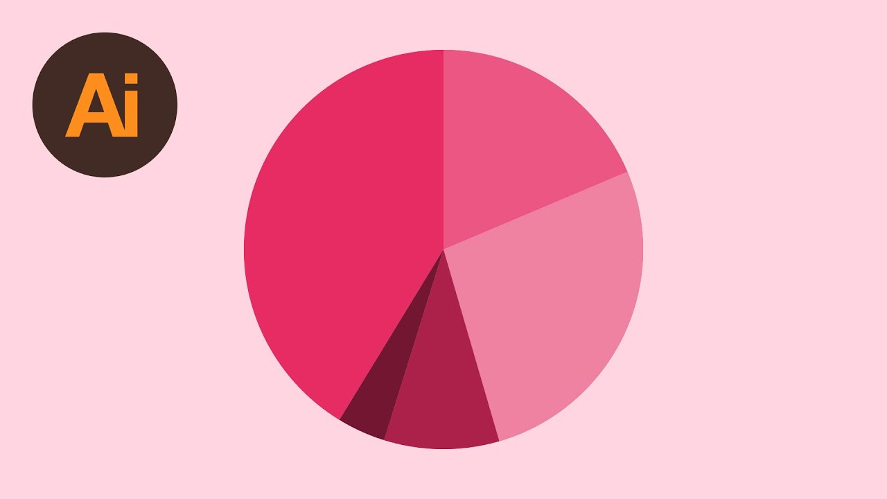 Learn How To Draw A Pie Chart In Adobe Illustrator Dansky Youtube