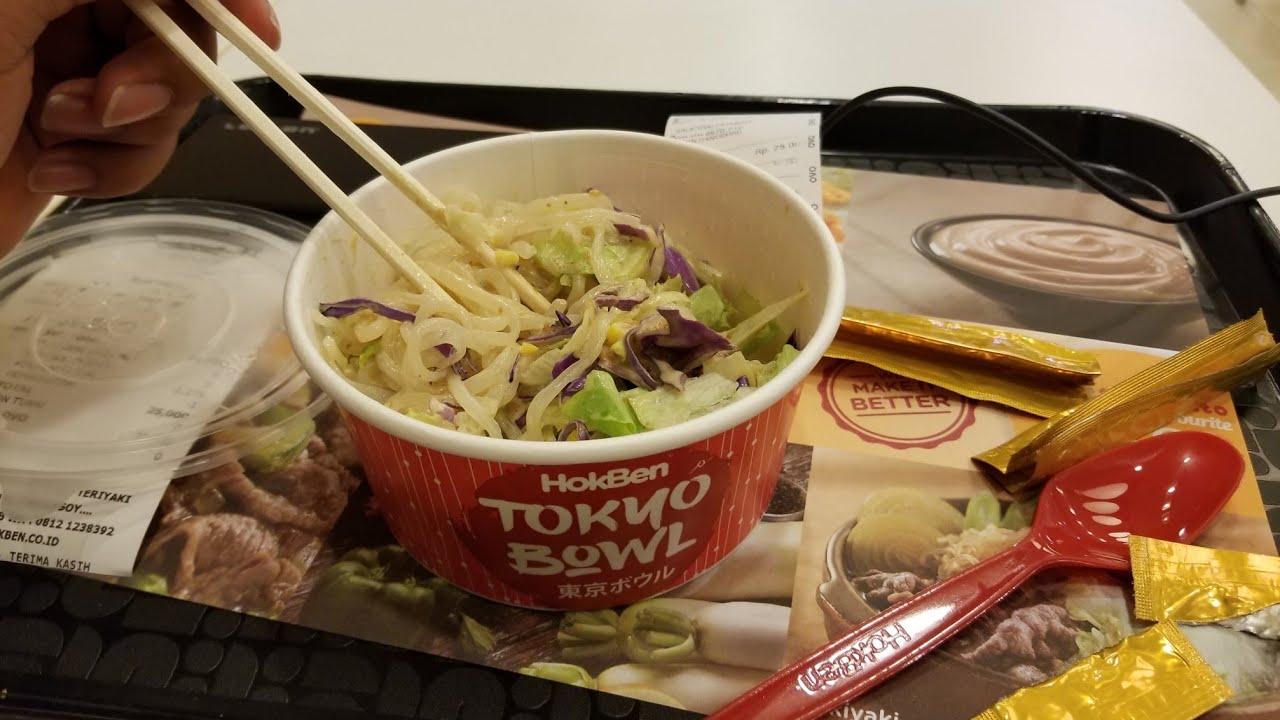 Hokben Salad Tokyo Bowl Hoka Hoka Bento 28 March 2019 Youtube