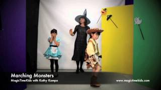 "Halloween Song "" Marching Monsters"" for Kindergarten, Elementary students"