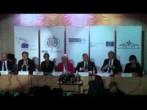 2014 Ukraine (parliamentary) - post-election press conference